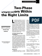 Design Two-phase Separators Within the Right Limits
