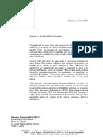 Courrier adressé au Président de la République - Donner à Marianne les traits de Simone Veil