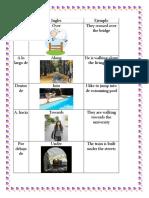 Preposiciones de Movimiento en Ingles