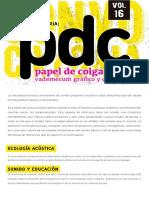 Convocatoria PDC Sonido