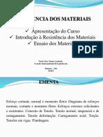 Aula 1 Revisão Vetores Ensaio Dos Materiais2018