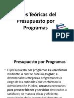 Bases Teoricas Del Presupuesto Por Programas