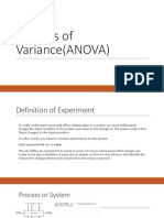 Analysis of Variance(ANOVA)