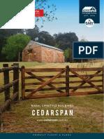 Cedarspan Cabin Barn Pricelist 2018