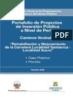 Perfil Carretera Santa Cruz-Sucre