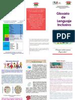 Triptico Glosario de Terminos Inclusivos