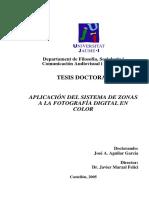 TESIS DOCTORAL APLICACIÓN DEL SISTEMA DE ZONAS A LA FOTOGRAFÍA DIGITAL EN COLOR