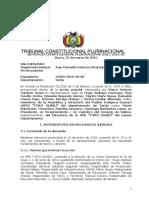 SCP 0281-2016-s2 Marco Antonio Cardozo Jemio - Derecho Autodeterminacion y Eleccion de Autoridades Pueblo Indigena Originario Campesino, No Dualidad de Autoridades