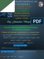 EDL No Homogenea Con Coeficientes Constantes-Metodo Coeficientes Indeterminados Por Superposicion