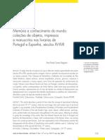 MEGIANI Ana Memoria e conhecimento do mundo Colecoes de objetos impressos e manuscritos nas livrarias de Portugal e Espanha seculos XV-XVII.pdf