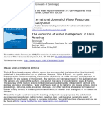 Lee, T. (1988). the Evolution of Water Management in Latin America. International Journal of Water Resources Development, 4(3), 160–168.