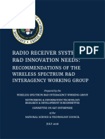 Radio Receiver Systems R&D Innovation Needs