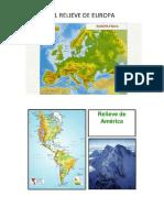 Mapas de Relives de Cada Continente