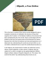 Kabbalah 1_ Klipoth, A Free Online Course