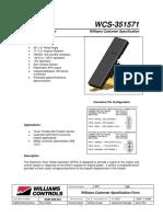 Wm-526 Specification Sheet