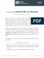 Guía Para Textos PBL en Derecho