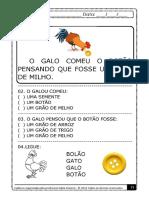 Frases e Pequenos Textos Cadernos de Alfabetização Palavars Geradoras