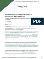 Presidencialismo de Assombração, Diz Renato Lessa