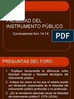 Falsedad Del Instrumento Congreso