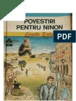 Povești Și Nuvele-1985 82 Emile Zola-Povestiri pentru Ninon