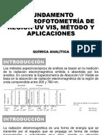 Fundamento Espectrofotometría de Región Uv Vis Método