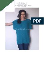 Casual Turquoise Tunic Machine Knitting Pattern
