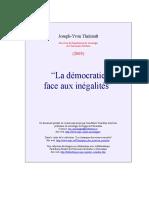 +++LA  DEMOCRATIE  FACE  AUX  INEGALITÉS.doc