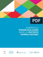 Seguimiento de La Inversión Social en Niñez en Base Los ODS.