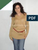 Long Golden Sweater Machine Knitting Pattern