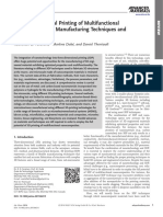 Tree-dimensional Printing of Multifunctional Nanocomposites- Manufacturing Techniques and Applications