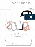 AGENDA 2019 by Sofiapricot