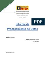 Informe Procesamiento de Datos Juan