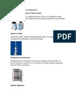 Equipo y cristaleria de un laboratorio.docx