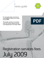 'Land Registration Services and Fees' From Land Registry