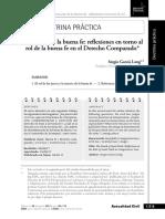 La muerte de la buena fe - Reflexiones en torno al rol de la buena fe en el Derecho Comparado Parte 2 - SGL 2017.pdf