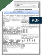 Avaliação Diagnostica de Matemática.docx - 7º Anos