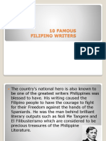 10 Famous Filipino Writers