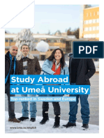 Study Abroad at Umea Brochure