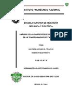 Analisis de Las Corrientes de Cc