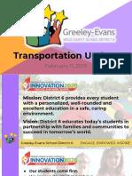 Greeley-Evans School District 6 transportation update Feb. 2019