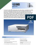 Sony UP51MD Spec Sheet