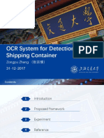 OCR System for Detection of Shipping Container