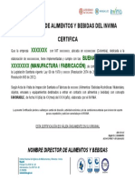 Certificados Bpm y Fabricacion