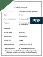 CURRICULUM Otro Formato 2018