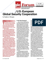 Strategic Forum. Sustaining U.S.-european Global Security Cooperation