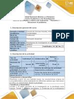 Guía de Actividades y Rúbrica de Evaluación – Momento 1 – Reconocer El Problema