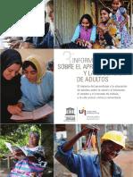 FEBRERO Informe Mundial Sobre El Aprendizaje y La Educación de Adultos