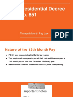 13th Month Pay Law