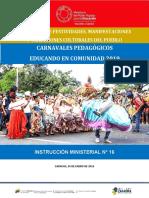 Instruccion Carnavales Pedagogicos Educando en Comunidad 2019