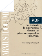 Nuria Rodríguez Calatayud - Archivo y Memoria Femenina. Los Textos de La Mujer Artista Durante Las Primeras Vanguardias (1900 – 1945)